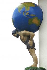world on man